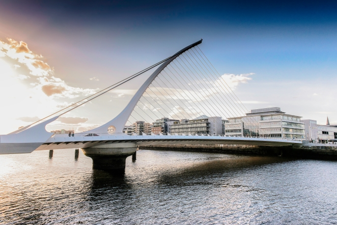 Samuel Beckett Bridge HDR