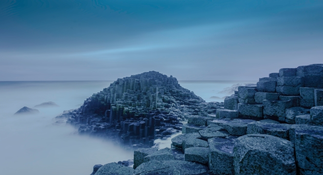 The Giants Causeway before dawn