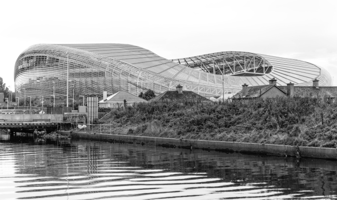 The Aviva Stadium B&W