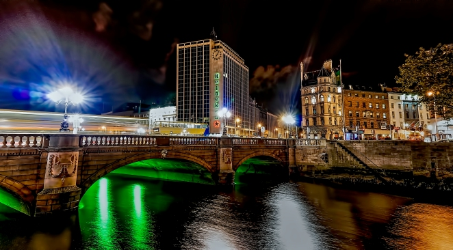 O'Connell Bridge Night HDR
