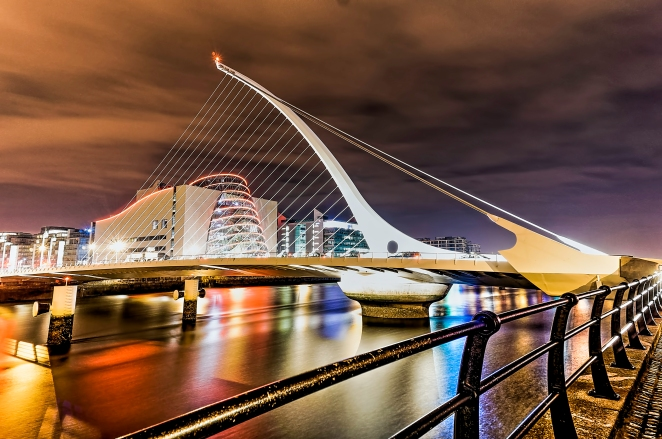 Samuel Beckett Bridge Night HDR