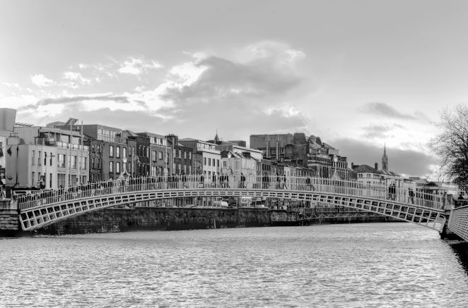 Ha'Penny Bridge Black & White
