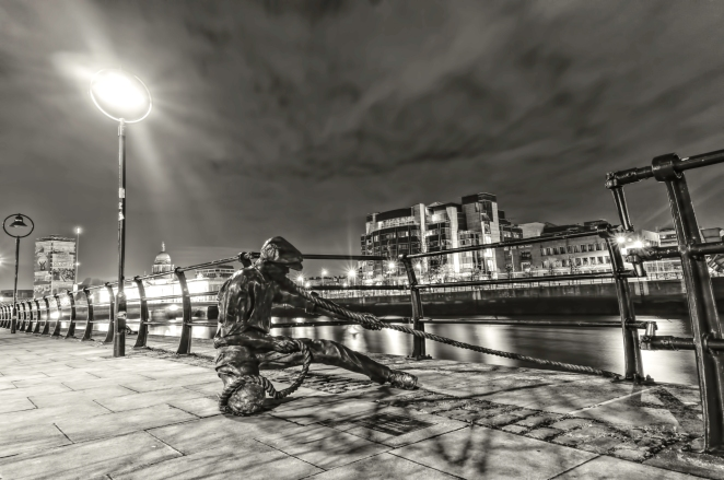 The Dock Worker B&W HDR