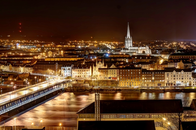 Derry at Night HDR