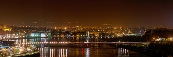 Derry Peace Bridge Panorama