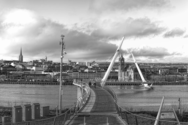 The Peace Bridge Day B&W