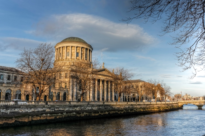 Four Courts on the Liffey HDR